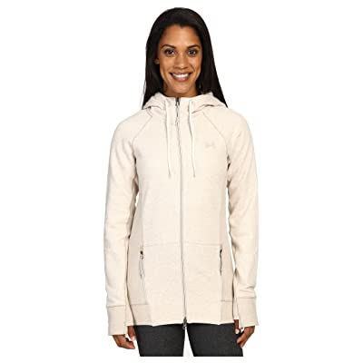 Under Armour UA Varsity Fleece Full Zip (Oatmeal Heather/Oatmeal Heather) Women