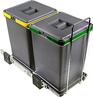 ELLETIPI ecofil PF0134A2Papelera Reciclaje extraíble para Base plástico y Metal Gris 23x 45x 36cm