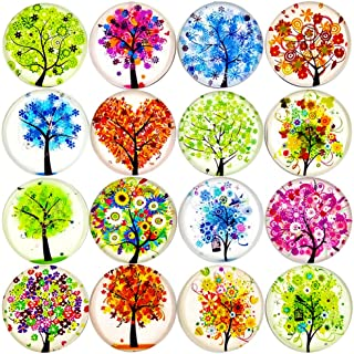 ALIGLE 16pcs Beautiful Glass Refrigerator Magnets Fridge Stickers Funny for Office Cabinets Whiteboards Tree of Life Decor...