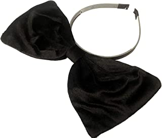 Velvet Bow Headband: H2 (Velvet Black)