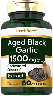 Fermented Black Garlic Capsules   1000mg   60 Count   Non-GMO, Gluten Free   by Horbaach