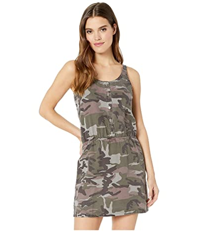 Hard Tail Pull-On Button Tank Dress (Nickel) Women