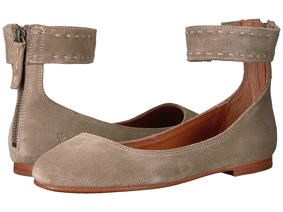Frye Carson Ankle Ballet (Ash Soft Oiled Suede) Women