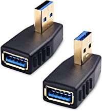 Cable Matters Combo-Pack Left and Right 90 Degree Angle Adapters (USB 3.0 Adapters, USB Angle Adapters)