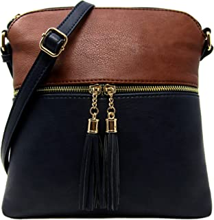 Rich Faux Leather Crossbody Bag with Adjustable Shoulder Strap