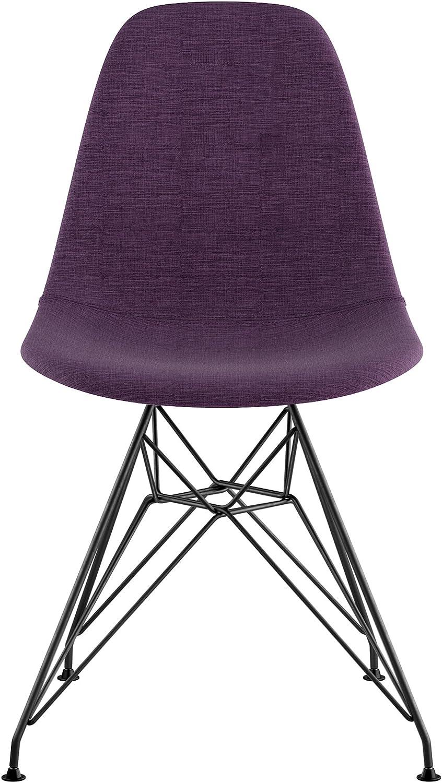 NyeKoncept 331005EM3 Mid Century Eiffel Side Chair, Plum Purple