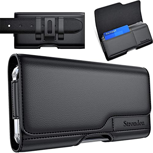 Stronden Holster for iPhone 12, 12 Pro, 11, XR Holster - Leather Belt Case with Belt Clip/Loop [Magnetic Closure] Pre...