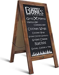 """Rustic Magnetic A-Frame Chalkboard Sign/Extra Large 40"""" x 20"""" Free Standing Chalkboard Easel/Sturdy Sidewalk Sign Sandwich Board/Outdoor A Frame Chalk Board for Weddings & More!"""