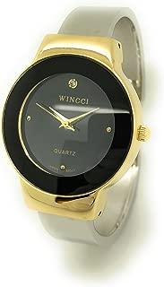 Ladies Casual Elegant Shiny Metal Bangle Cuff Fashion Watch Wincci