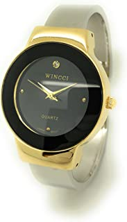 Ladies Casual Elegant Shiny Metal Bangle Cuff Fashion Watch Wincci