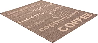 Teppich Finca 510 Rug with Coffee Motif 80 x 150 Coffee