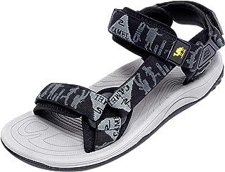 CAMEL CROWN Men's Adjustable Sandals Non-Slip Comfortable Soft Rubber Sandals for Men Athletic Fisherman Hiking Beach Sports