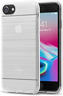 iPhone Case for iPhone 8, 7, 6S, 6 - by TalkWorks | Clear Hardshell Protective Cell Phone Case with Border Edge Bumper for Apple iPhone 8, iPhone 7, iPhone 6S, iPhone 6