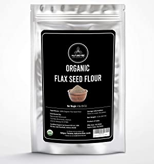 Naturevibe Botanicals Organic Flax Seed Flour, 4lbs | Certified Organic, Non-GMO and Gluten Free (64 Ounces) | Skincare an...