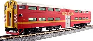 Kato USA Model Train Products Pullman Rock Island #CC116 Bi-Level 4-Window Cab Coach