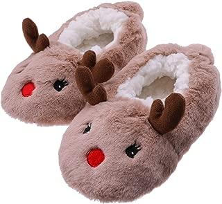 Toddler Kids Girls Boys Cute Cartoon Animal Soft Warm Plush Lining Non-Slip Slippers Winter House Shoes