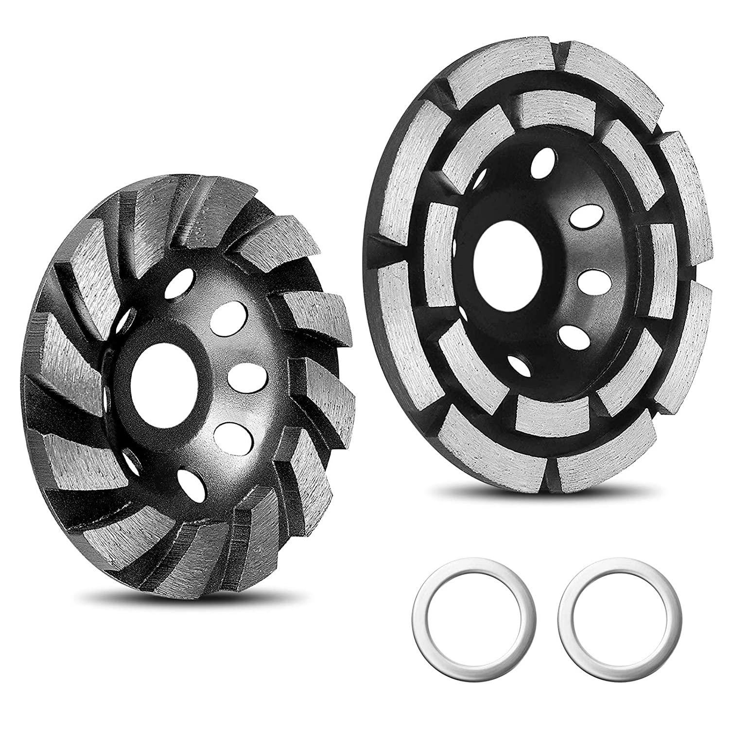 2021 Upgraded 2 Pack Recommended Max 50% OFF Diamond Cup Wheel Include Grinding 4-1