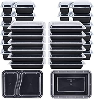 Kootek 26 Pack Meal Prep Containers with Lids (30oz and 35oz), 2 & 1 Compartments Food Storage Sets Durable Stackable Bento Boxes, Microwaveable, Freezer Safe