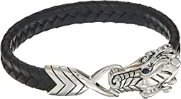 Legends Naga 10mm Station Bracelet in Black Leather