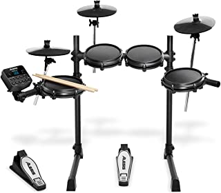 Alesis Drums Turbo Mesh Kit – Seven Piece Mesh Electric Drum Set With 100+ Sounds, 30 Play-Along Tracks, Drum Sticks & Con...