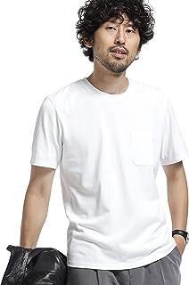 [ナノユニバース] 《WEB限定》《汗染み防止》Anti Soaked ヘビー クルーネック Tシャツ メンズ
