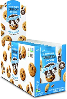 Lenny & Larry's The Complete Crunchy Cookies, Chocolate Chip, 20g Vegan Protein 1.25oz Single Serve Bags, 12 Count