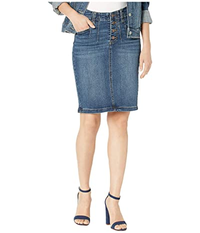 Liverpool Darted Skirt in Eco-Friendly Denim in Jefferson (Jefferson) Women
