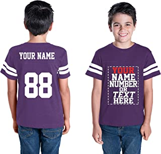 Custom Cotton Jerseys for Youth and Teens - Make Your OWN Jersey T Shirts - Personalized Team Uniforms for Casual Outfit