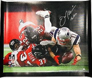 Julian Edelman New England Patriots Signed SB LI The Catch 40x50 Canvas JSA