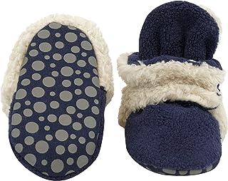 Zutano Boys' Cozie Fleece Baby Booties with Grippers