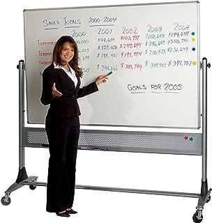 Best-Rite 669RH-DD Platinum Mobile Reversible Whiteboard Easel, 4 x 8 Feet Panel Size, Porcelain Steel Markerboard Surface