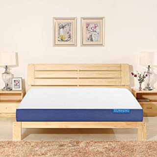 KUNPENG Queen Mattress, Gel Memory Foam Mattress 10 Inch, Bed Mattress in a Box Medium Firm, Comfort Body Support, Sleeps Cool, CertiPUR-US, 10-Year Warranty