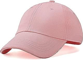 Kids Cotton Baseball-Caps Plain Snapback Hats for Boys Girls Children