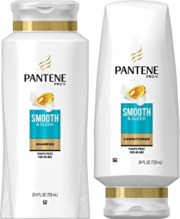 Pantene, Shampoo and Sulfate Free Conditioner Kit, with Argan Oil, Pro-V Smooth and Sleek..