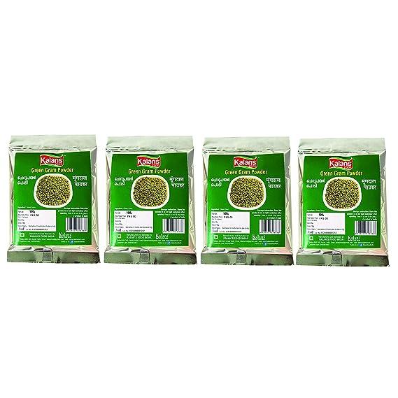 Kalans Green Gram Powder 100 gm (Pack of 4)