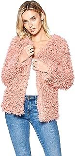 Hollywood Star 时尚长袖人造皮草外套夹克
