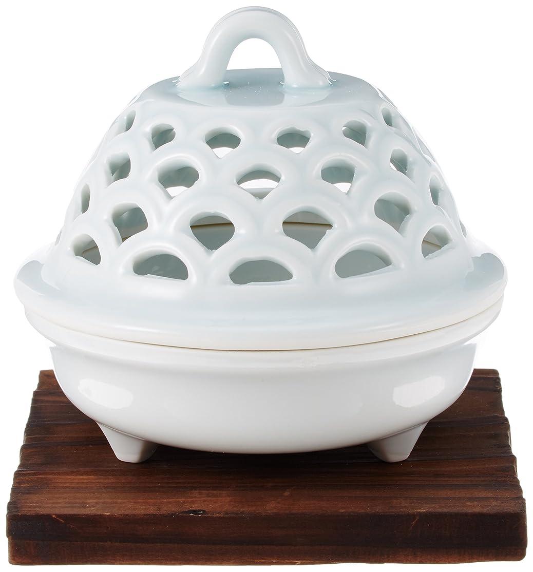 爬虫類バイナリ浴香炉 青磁 透し彫り 香炉 [R9.5xH9cm] プレゼント ギフト 和食器 かわいい インテリア