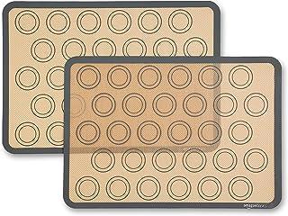 Amazon Basics Lot de 2tapis de cuisson en silicone pour macarons