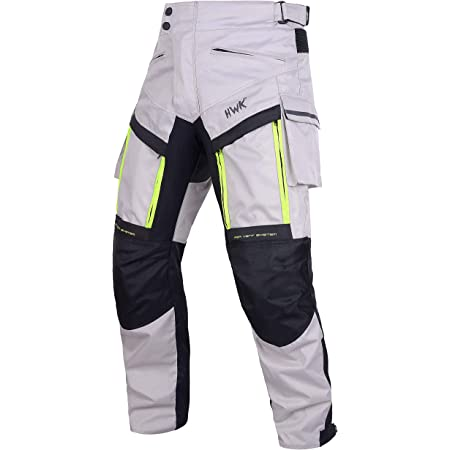 Motorcycle Pants For Men Dualsport Motocross Motorbike Pant Riding Overpants Enduro Adventure Touring Waterproof CE Armored All-Weather BLACK, WAIST 32-34 INSEAM 32