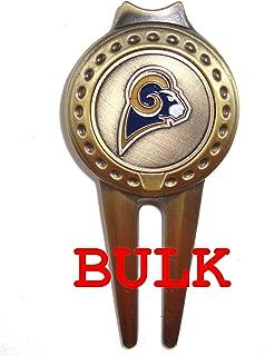 Bulk: 100 Los Angeles (LA) Rams Divot Tools with Golf Ball Markers