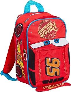 Disney Cars Mochila 3D para niños Lightning Mcqueen School Nursery Lunch Bag Rucksack, Rojo. (Rojo) - MNCK12773
