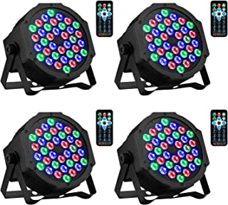 Sponsored Ad - DJ Lights 36 LED RGB Uplighting 9 Modes Sound Activated Stage AOELLIT Par Lights with Remote Control Compat...