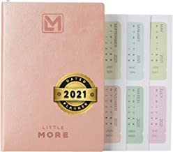 """Little More Daily Organizer Planner in Protect Box - Daily Dated Planner to Achieve Goals - A5 Vegan Leather 5.5""""x8.5"""" - C..."""