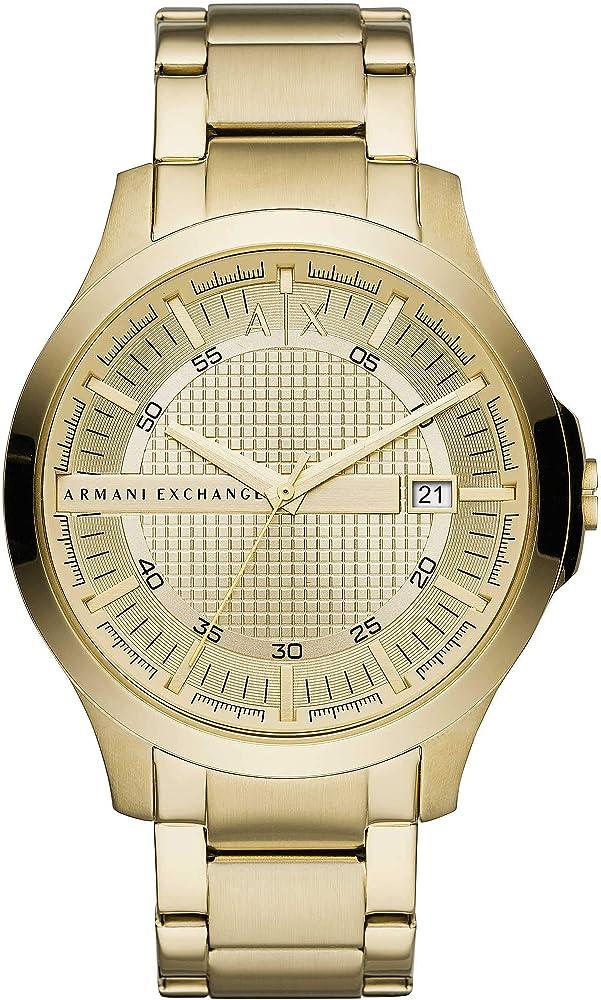 Armani exchange orologio analogico per uomo  in acciaio inossidabile AX2415