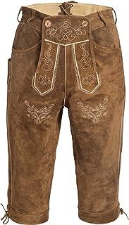 Pantalones de cuero para hombre con tirantes en varios Colores: