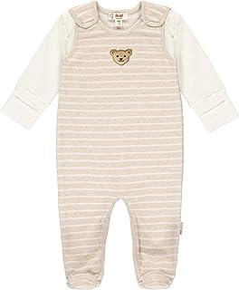 Steiff Unisex Baby Mit Süßer teddybärapplikation Set Strampler  T-Shirt Langarm GOTS