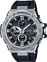 Casio Men's 'G-Steel by G-Shock' Quartz Solar Bluetooth Connected Resin Dress Watch, Color: Black (Model: GST-B100-1ACR)