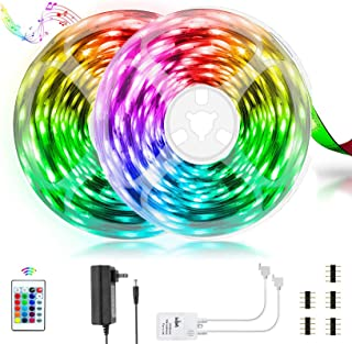 Homiar LED Strip Lights, 32.8ft SMD5050 300LEDs RGB Strip...