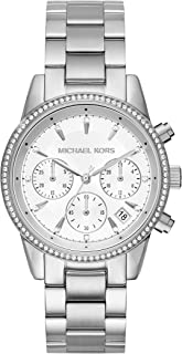 Michael Kors Womens Quartz Watch, Chronograph Display and Stainless Steel Strap MK6428