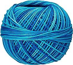 Handy Hands Lizbeth Egyptian Cotton Crochet, Tatting, Knitting Thread Size 3 (50 Grams 120 Yards) – HH03149, Peacock Blues